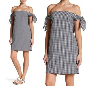 New Love Ady Gingham Off the Shoulder Dress